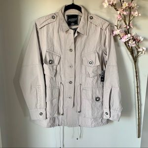 NWT GENTLE FAWN / PINK BUTTON UP UTILITY JACKET